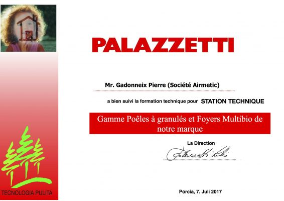 STATION TECHNIQUE OFFICIELLE PALAZZETTI